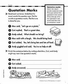 grammar worksheets using quotation marks 24941 quotation marks grammar practice printable test prep tests and skills sheets