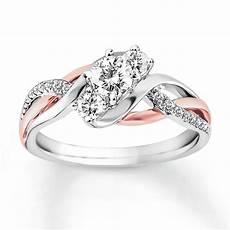 diamond engagement ring 5 8 ct tw cut 14k two tone