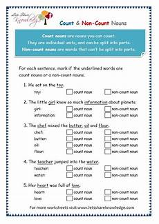 grade 3 grammar topic 12 count and noncount nouns worksheets lets share knowledge