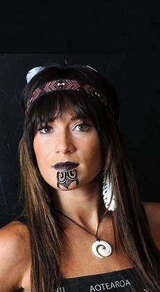 S Maori Moko Chin Temporary Tattoos
