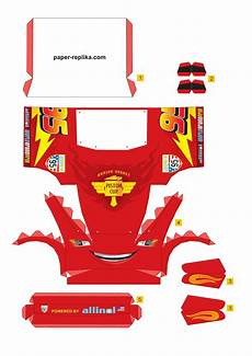 lightning mcqueen malvorlagen pdf paper model lightning mcqueen free printable for