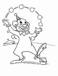 Ausmalbilder Zirkusclown Clowns Coloring Pages Coloringpages1001