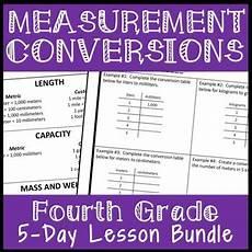 units of measurement worksheets 4th grade 1974 measurement conversion mini unit 5 day fourth grade unit conversions bundle