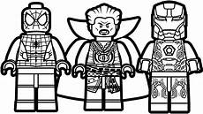 lego doctor strange and iron coloring page