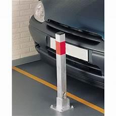 poteau bloque parking rabattable en acier mottez b320p