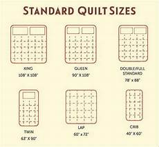 helpful guide to bed sizes quilt size chart quilt size