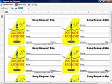 karaoke song request template