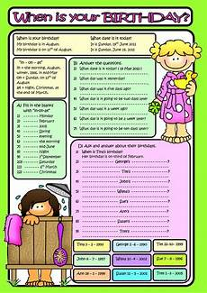 my birthday printable worksheets 20257 when is your birthday b w included worksheet free esl printable worksheets made by teachers