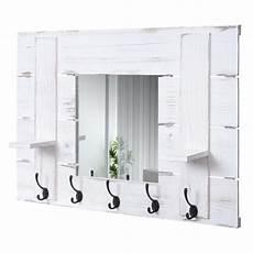 garderobe vintage weiss wandgarderobe hwc c89 mit spiegel garderobenpaneel