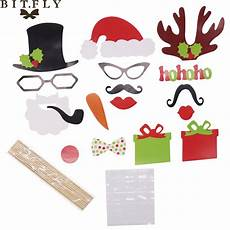 bitfly merry christmas photo booth props photobooth festival favors glasses paper card funny