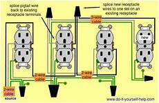 diagram to add a new receptacle diy wire electrical wiring home electrical wiring
