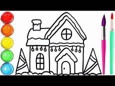 Mewarnai Gambar Rumah Natal Untuk Anak Anak How To Draw