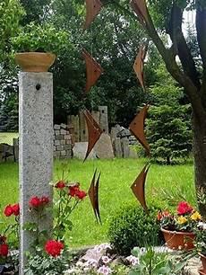 gartendeko edelstahl edelrost windspiel fr 252 hling sommer