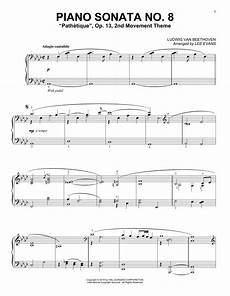 piano sonata no 8 op 13 quot pathetique quot 2nd movement sheet music by piano 163893