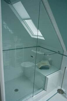Low Ceiling Attic Bathroom Ideas by Enchanting Small Bathroom With Sloping Ceiling Glass Door