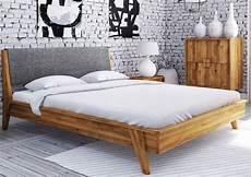 bett komforthöhe 180x200 bett wildeiche 180x200 cm grau aus massivholz