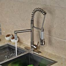 kitchen faucet pull sprayer kitchen sink faucet pull out sprayer brushed nickel swivel spout mixer tap ebay
