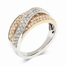 18ct white and rose gold 0 75ct diamond ring pravins