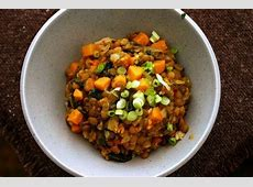 curried lentils with sweet potatoes and swiss chard_image