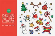 merry christmas scrapbook vector cute merry christmas patches vector vol 3 by naulicrea vector illustration downloadable