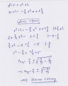 schnittpunkte 2 parabeln berechnen mathelounge