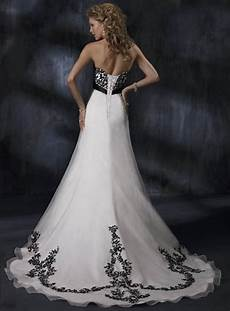 black and white wedding dress decoration designs wedding dress