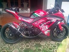 Modifikasi Motor 250 by Modifikasi Motor Kawasaki 250 Fi Merah Digital