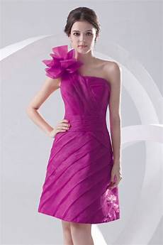 robe cocktail ée 20 solde robe cocktail organza fuchsia asym 233 trique taille 42 persun fr