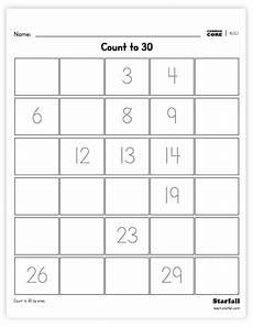 subtraction worksheets generator 10091 kindergarten grade count to 30 worksheet generator k cc 1 teach starfall with