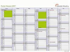 Ferien Hessen 2017 Ferienkalender Zum Ausdrucken
