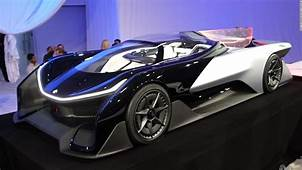 First Look At Faraday Futures Electric Racecar  Video