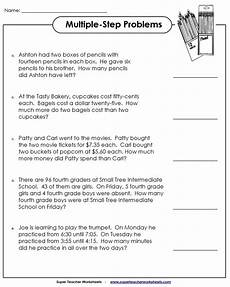 step word problem worksheets 4th grade 11472 step word problem worksheets