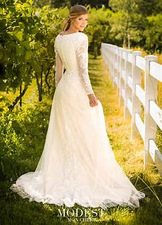 modest wedding gowns with 3 4 sleeves modest by mon cheri tr11979 modest wedding dress with