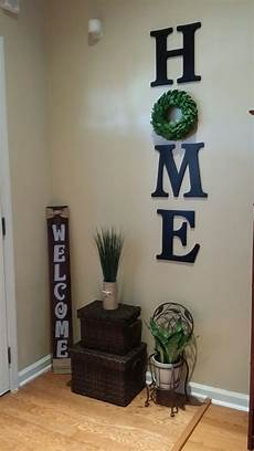 Wall Diy Home Decor Ideas Living Room by Wood Letters Home With Wreath Wall Decor My Diy And