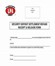 free 8 sle security deposit refund forms pdf