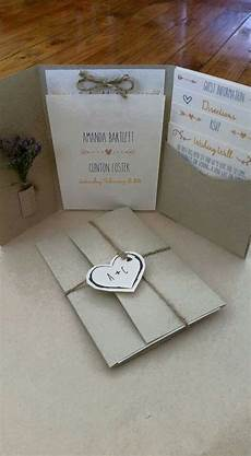 rustic pocket fold wedding invitation christmas wedding invitations wedding invitations