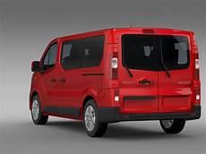 renault trafic minibus 2015 3d model flatpyramid