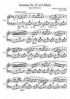 nocturne no 21 in c minor sheet music download free in pdf or midi
