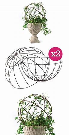 inspiration topiary form diy charm wire metal topiary dome of 2 two pieces a