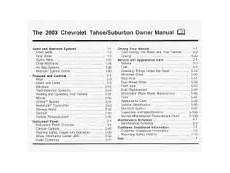 online car repair manuals free 2003 chevrolet tahoe regenerative braking 2003 chevrolet tahoe problems online manuals and repair information