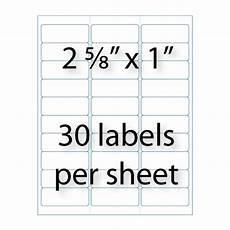 address labels 2 5 8 quot 1 quot 30 up avery 174 5160 compatible stik2it