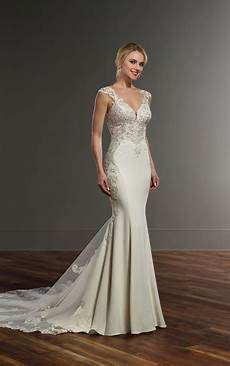 wedding dresses crepe wedding dress with side cutouts