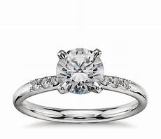 1 carat preset diamond engagement ring in platinum