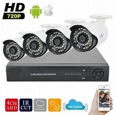kit 4 camera surveillance exterieur pack enregistrement avec 4 cameras ext 233 rieures et enregistreur