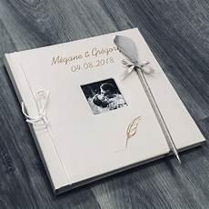 Livre D Or Mariage Personnalis 233 Album Photo Cuir Plume