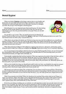 dental hygiene short reader answer key grade 5 to 6 personal hygiene