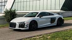 the audi r8 v10 plus competition has more downforce less