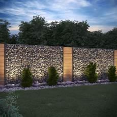 gartengestaltung sichtschutz stein gabione steinkorb sichtschutz 1630mm anthrazit steinzaun