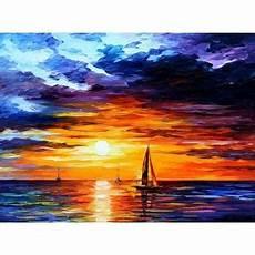 tableau peinture 224 l huile mer et bateau 57 tableau