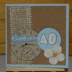 carte joyeux anniversaire 40 ans et horloge